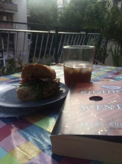 Homemade sandwich & vermouth on the balcony, Barcelona