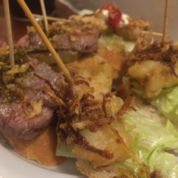 A variety of Pinchos at Gastarea in Gracia, Barcelona